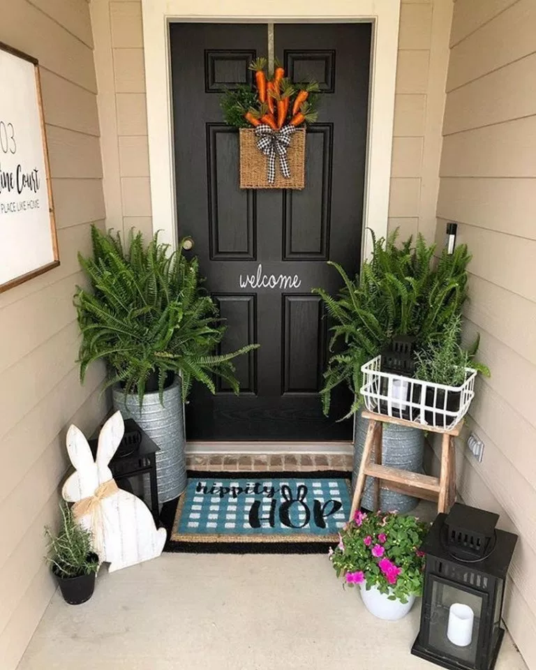 ✔76 definitions of front door decor 5 #smallporchdecorating