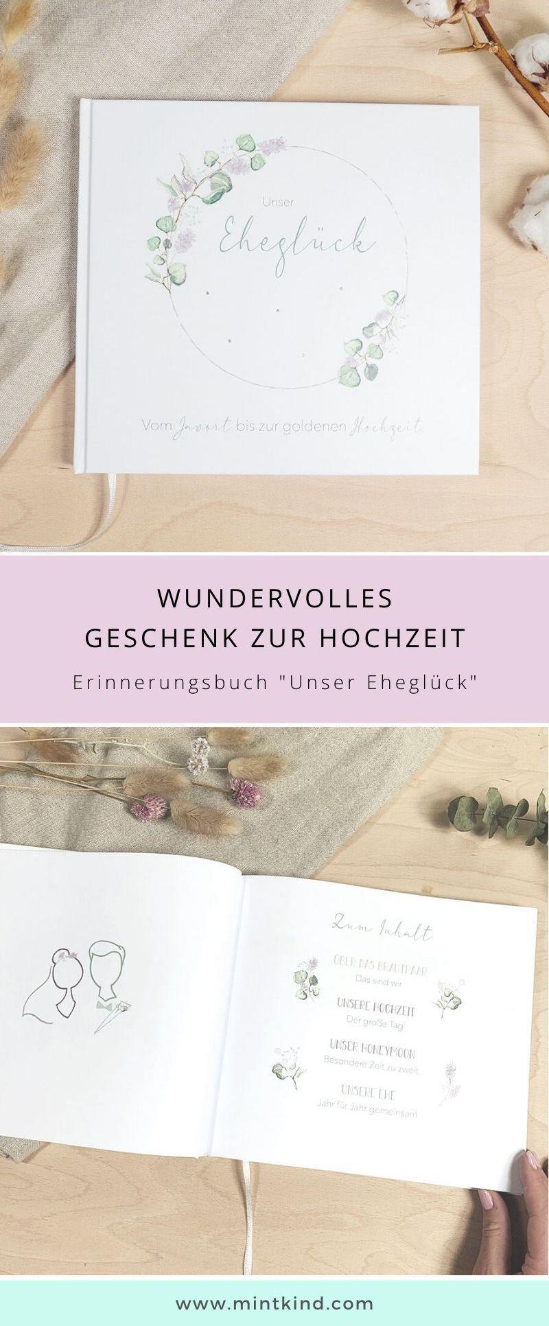 Mintkind Unser Ehegluck Erinnerungsbuch An Gemeinsame Ehejahre In 2020 Ehejahr Hochzeitsbuch Geschenk Hochzeit
