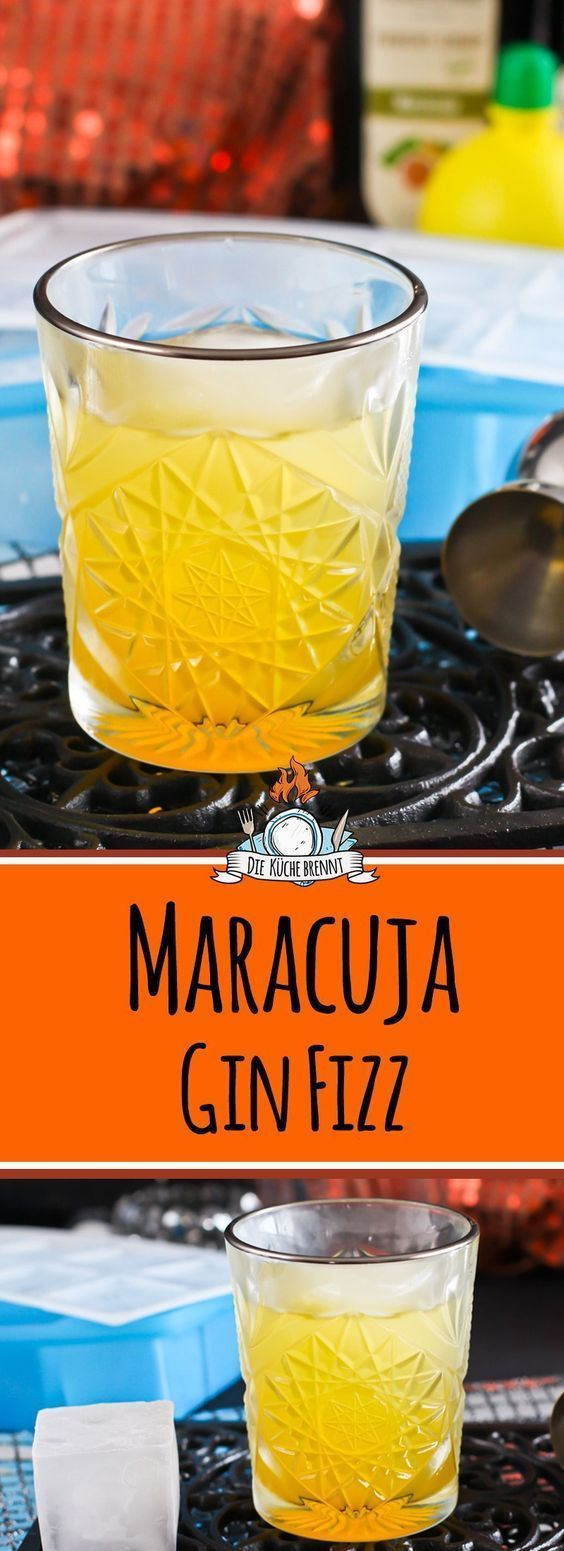 Photo of Maracuja Gin Fizz with myDRINK ice cubes from tescoma
