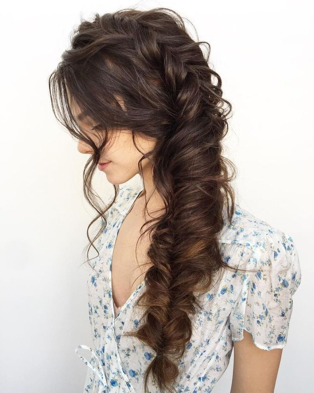 Awesome Side Braid Hairstyles Ideas For Long Hair06 #sidebraidhairstyles Awesome Side Braid Hairstyles Ideas For Long Hair06 #sidebraidhairstyles