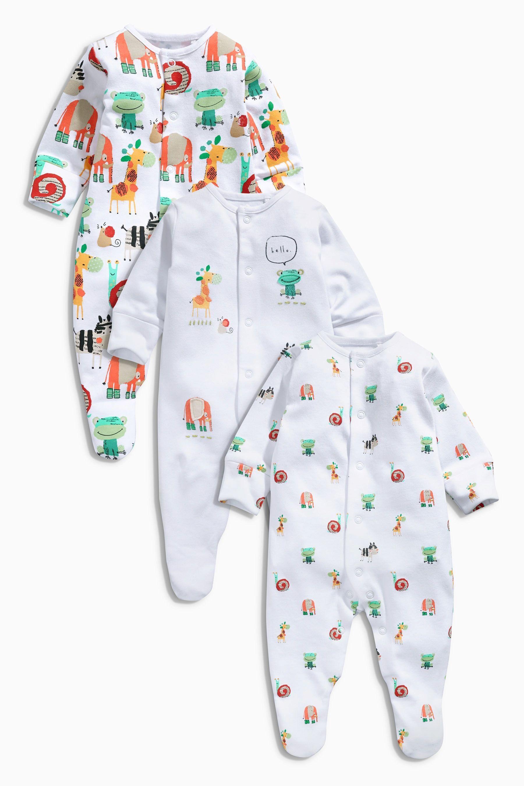 5e6a0a5e78425b Kaufen Sie Pyjama-Sets mit Tiermuster, Dreierpack (0 Monate – 2 ...