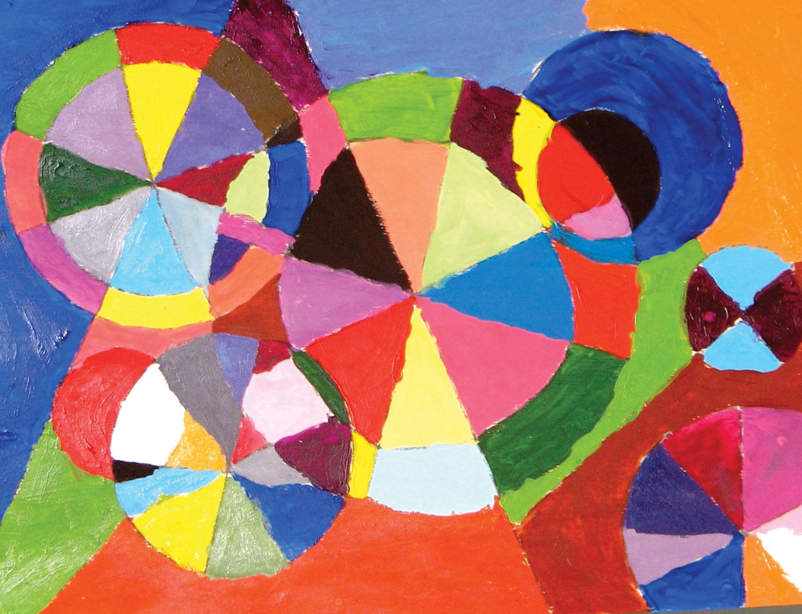 Painting Ideas For Kids Color Wheel