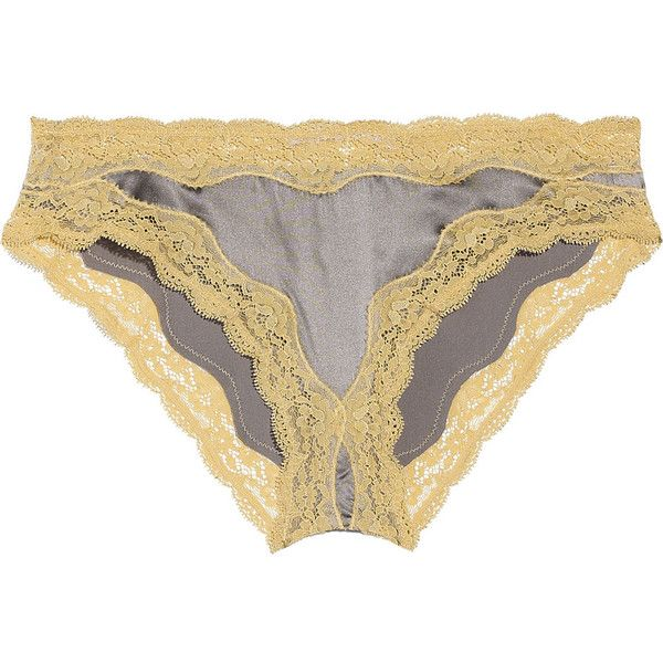 Stella McCartney Clara Whispering silk-blend satin briefs (43 CAD) ❤ liked on Polyvore featuring intimates, panties, lingerie, underwear, undergarments, women, satin panties, briefs panties, satin panty and satin lingerie