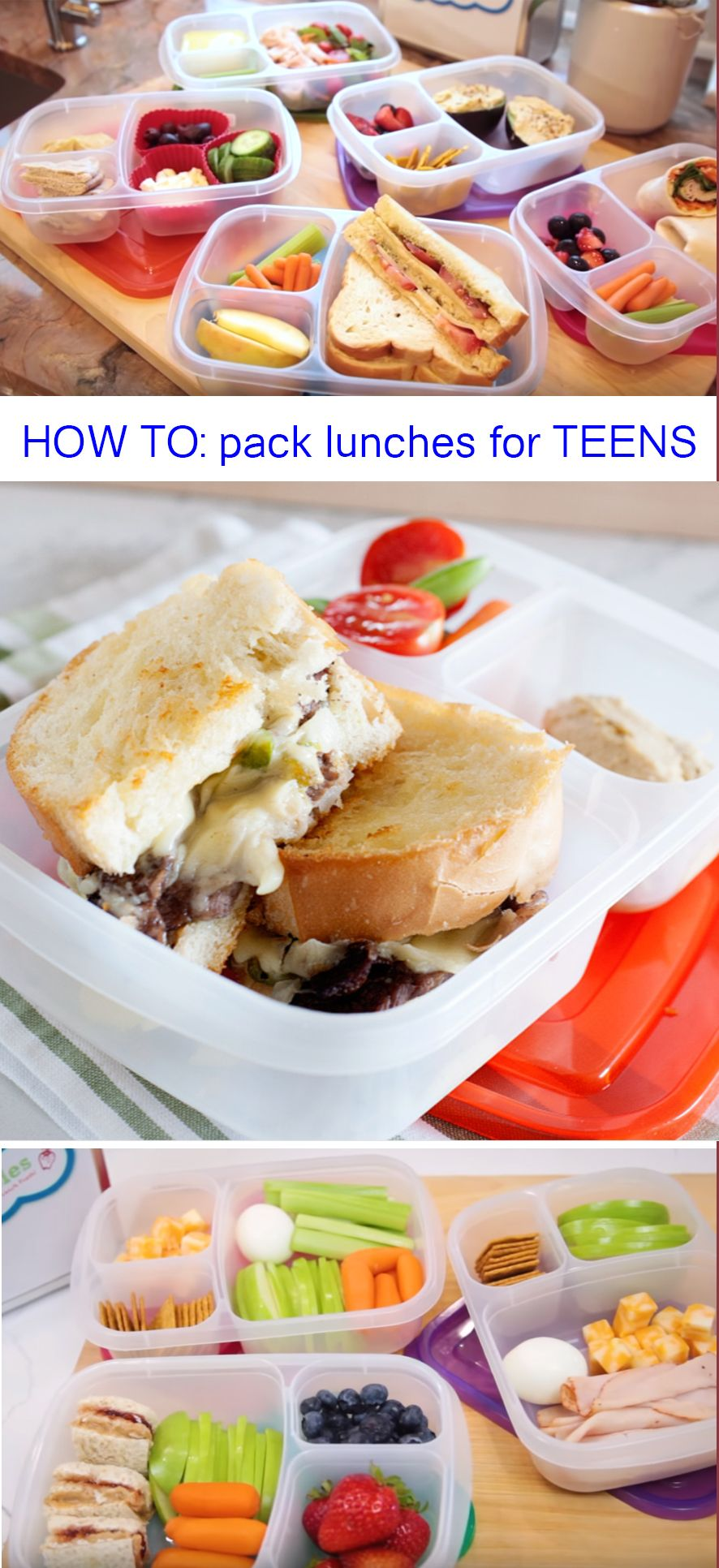 so many great lunch box ideas for teens. all packed in