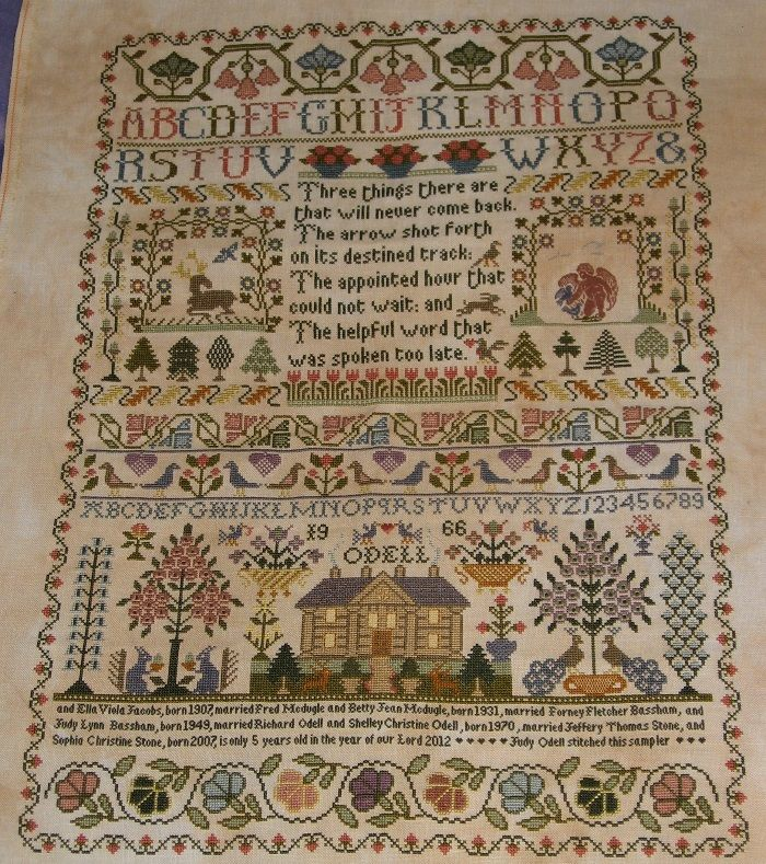 Just a Thought » Three Things Sampler ----   Judy O'Dell's version of Moira Blackburn's Three Things Sampler