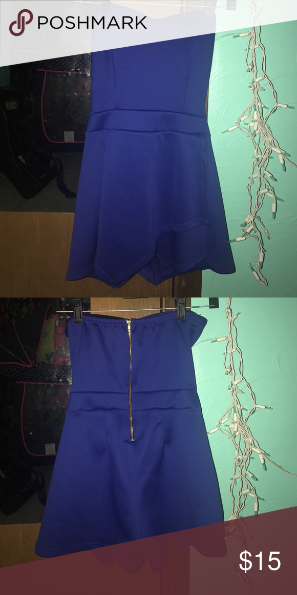 Romper Blue size small only worn once Charlotte Russe Dresses Strapless
