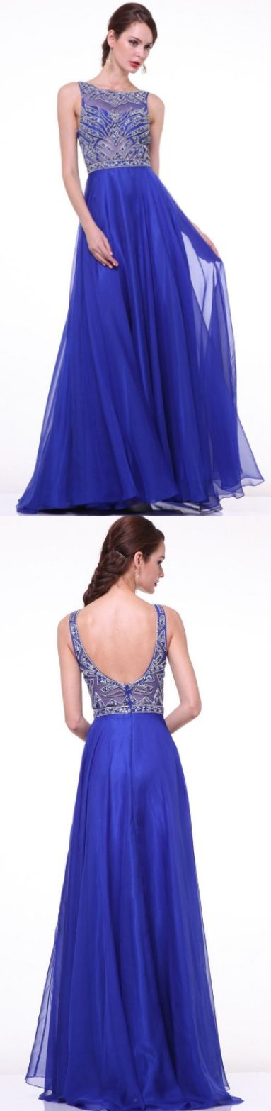 A-line Prom Dresses, Royal Blue Prom Dresses, Long Prom Dresses With ...