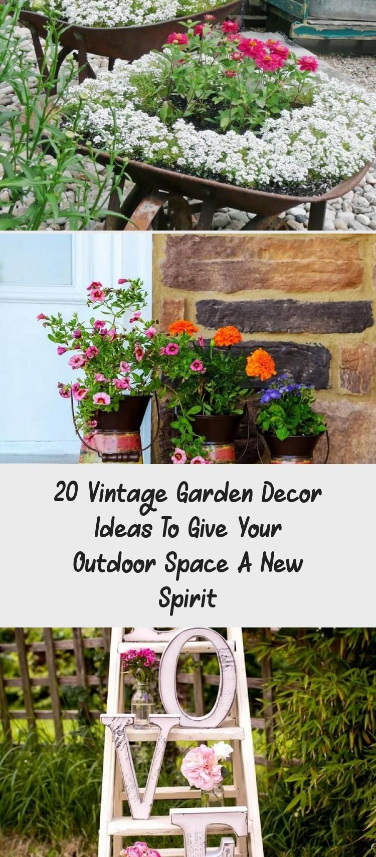 En Blog – En Blog in 8  Garden decor, Vintage garden decor