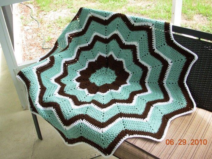 Stern Teppich häkeln - crochet rug | Häkeln Teppich / crochet rug ...