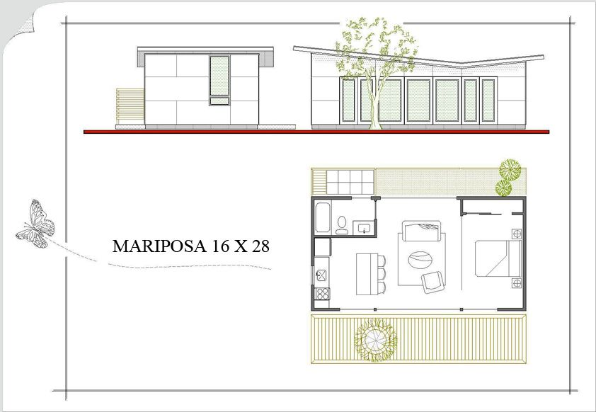 Modern guest house floor plans for Modern guest house plans