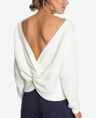 Juniors Bamboo Bridge Twist Back Sweater In 2018 Products