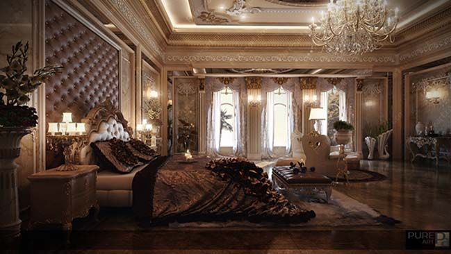 luxury master bedroom by pure art - Luxury Master Suite