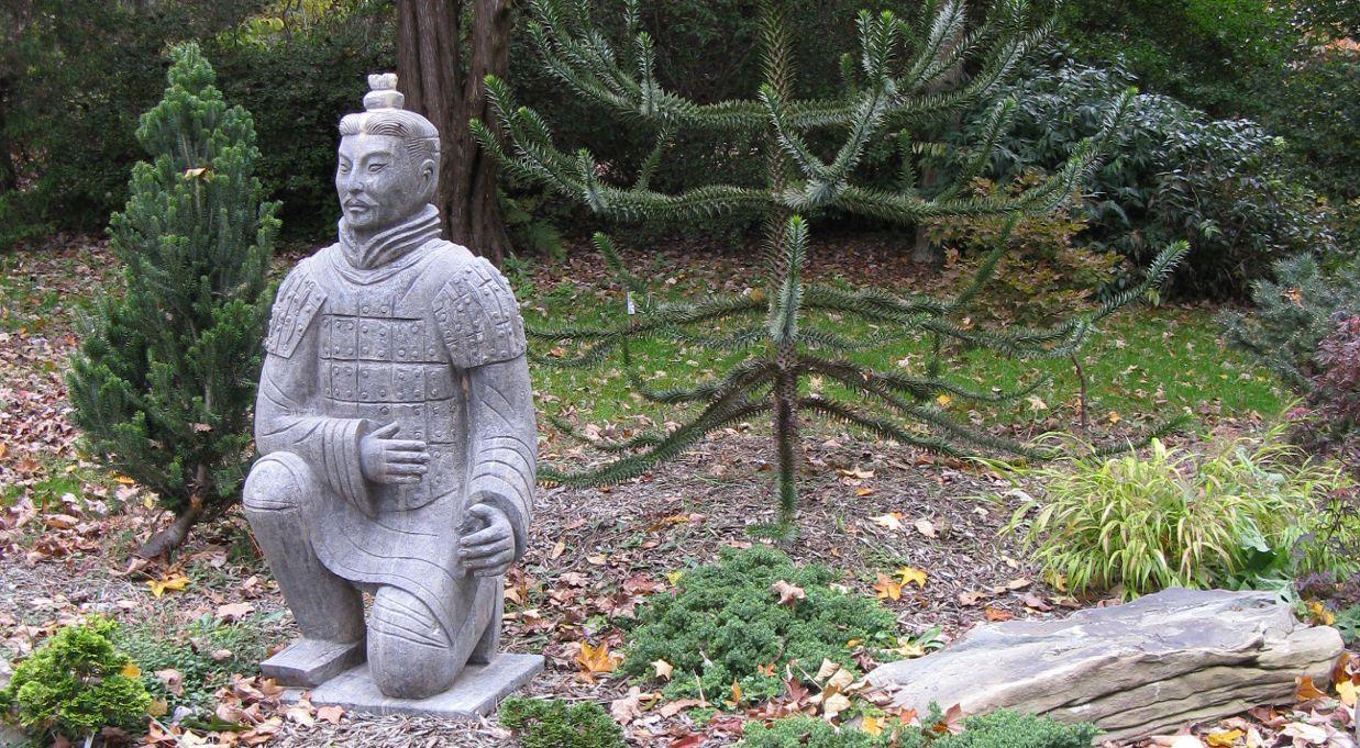 CHINESE WARRIOR KNEELING ARCHER · Garden SculpturesGarden ...
