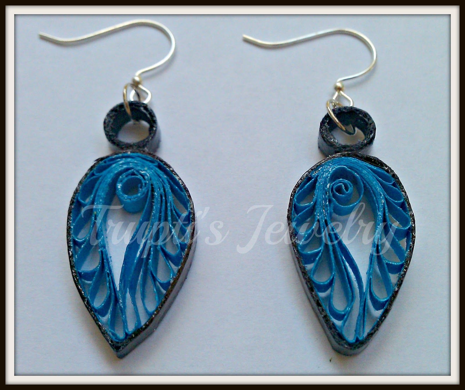These Gorgeous Ear Rings Are Super Light Weight And Water Resistant Above Design Is Inspired Quilling Jewelrypaper