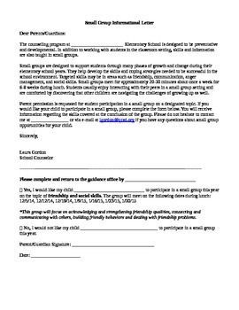 Parental Permission Slip Form  School Counseling Counselling And