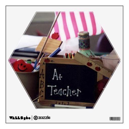 #1 Teacher Hexagon Wall Decal