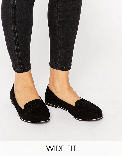 New Look Wide Fit | New Look Wide Fit Metal Detail Slip On Loafer
