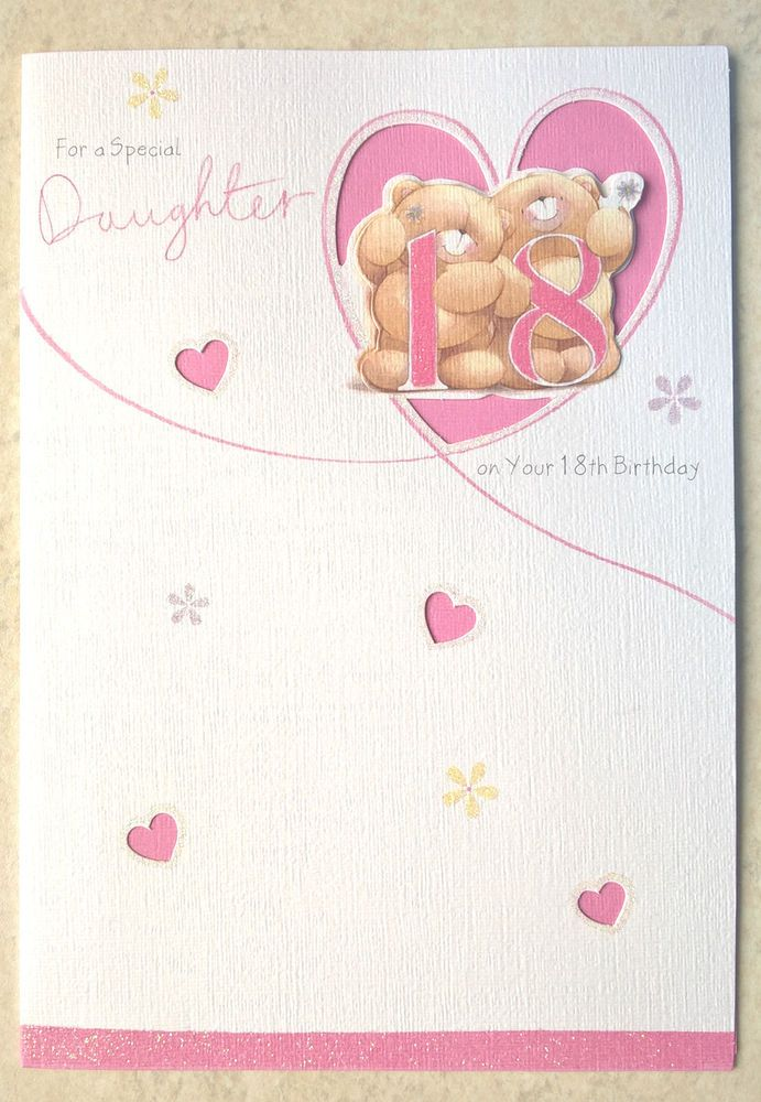 Hallmark For A Special Daughter On Her 18th Birthday HandFinished Card Multi
