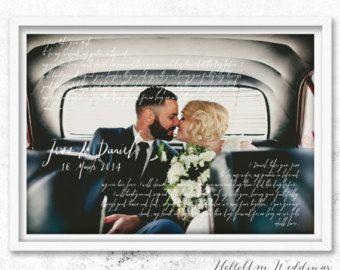 1st anniversary gift vows wedding vows paper anniversary gift