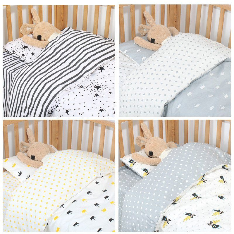 1 4 Pc Cot Bedding Set For Newborn Babies Quilt Sheets Pillow