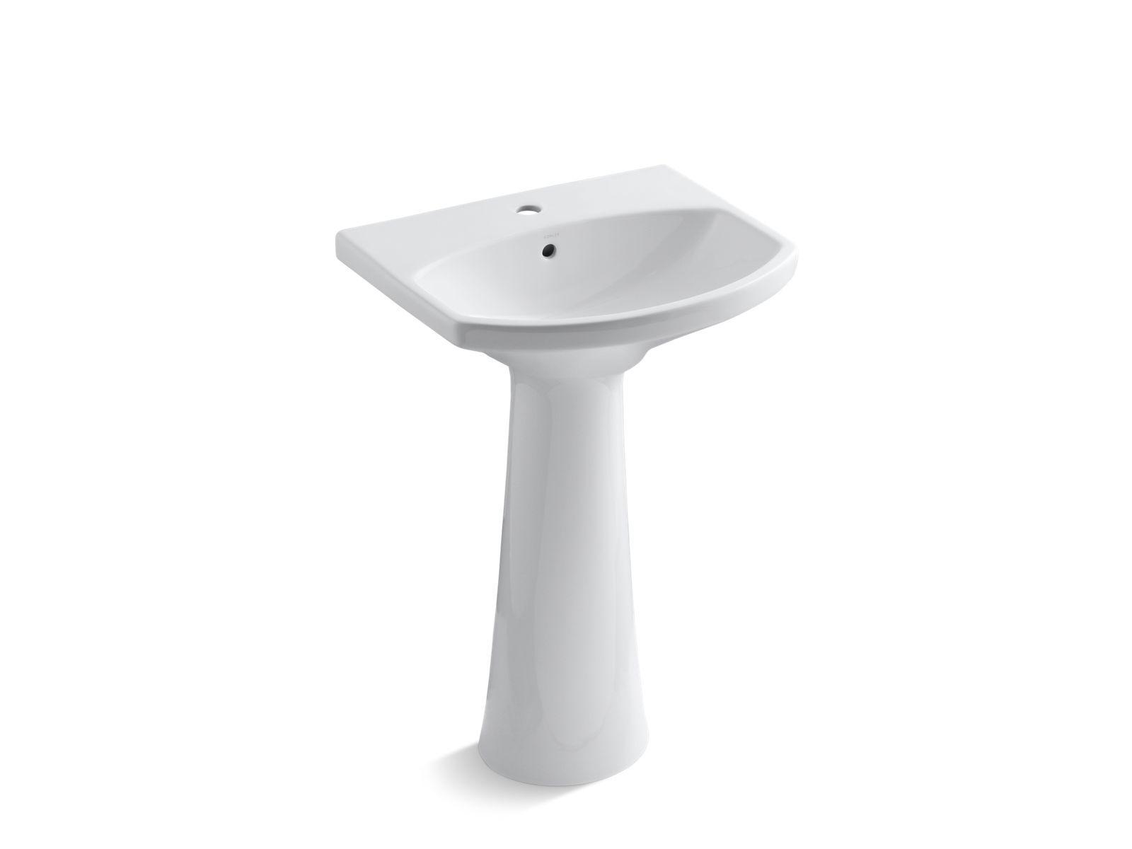 Cimarron Pedestal Sink With Single Faucet Hole K 2362 1 Kohler