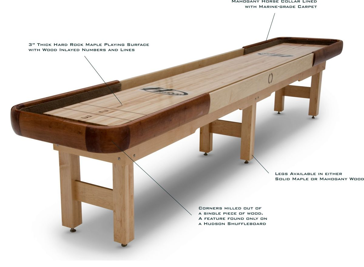 The 22u2032 Cirrus Outdoor Shuffleboard Table By Hudson