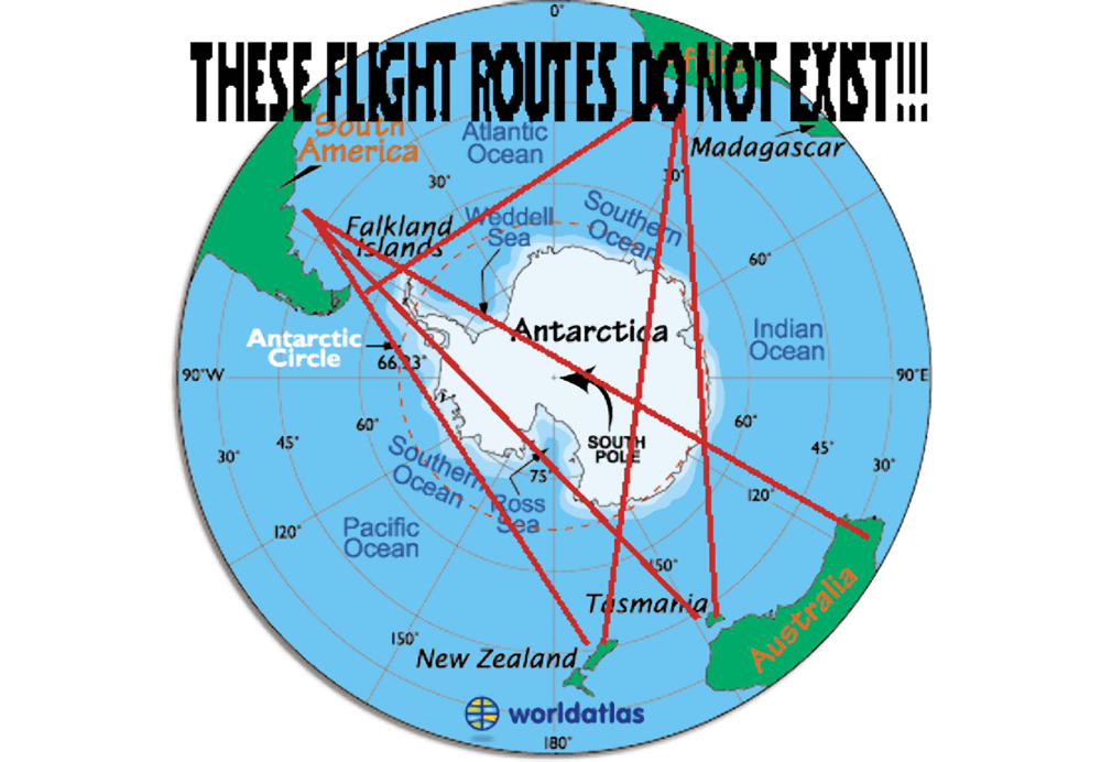 Flat Earth Are Australia To South
