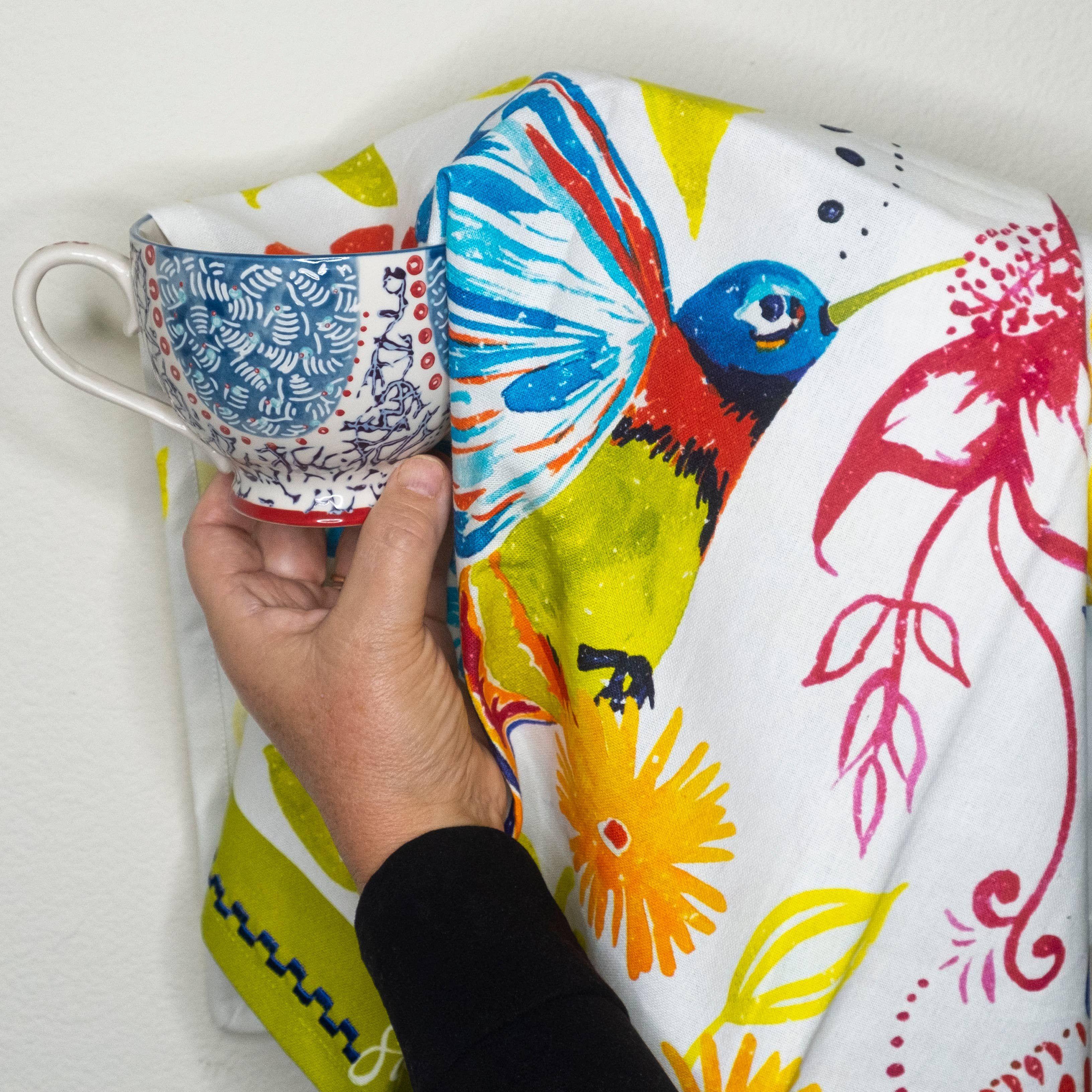 """SIP """"Happy Hummingbird"""" Kitchen Towel"""