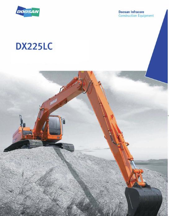 Doosan Daewoo DX225LC Excavator Service Manual | Doosan