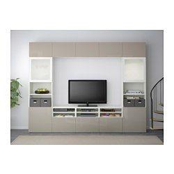 Ikea Aufbewahrung Schrank bestå tv komb mit vitrinentüren weiß selsviken hochgl beige