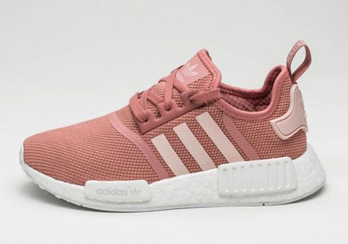 8b4d43dd6e32 NEW WOMEN S ADIDAS NMD R1 RUNNER RAW PINK ULTRA ROSE WHITE SALMON BOOST  PEACH  adidas  RunningCrossTraining