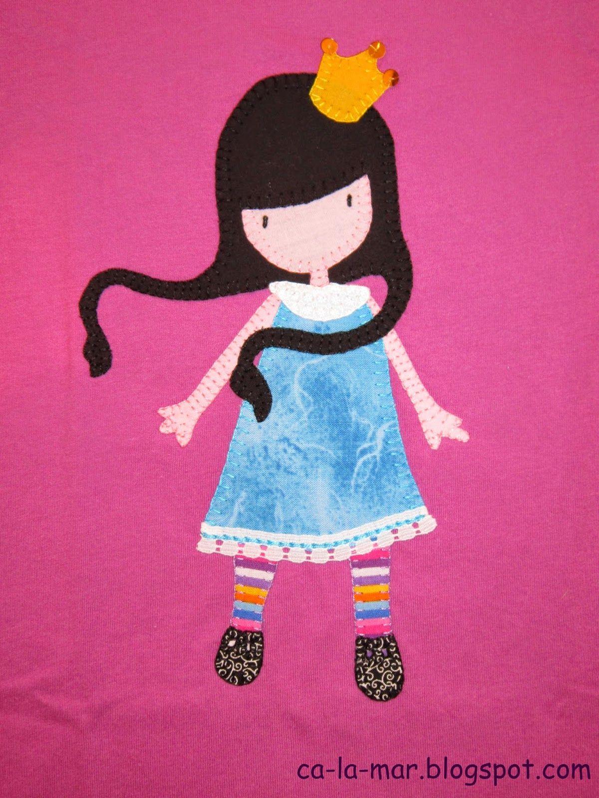 Patchwork Camiseta Con Mu Eca Gorjuss Patchwork Camisetas  ~ Ideas Para Decorar Camisetas Infantiles
