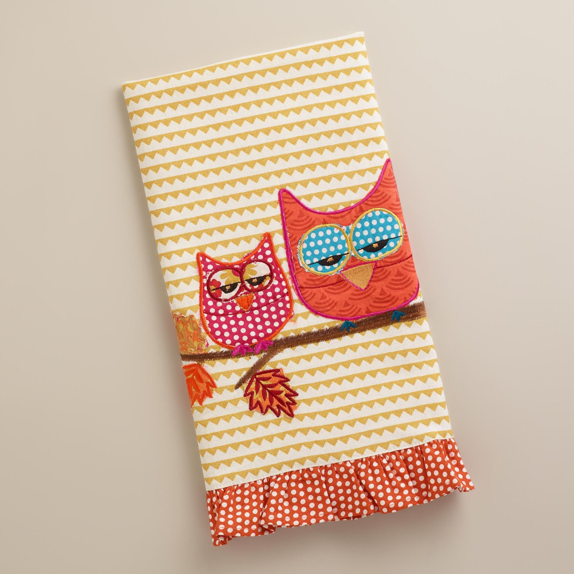 A Fun Way To Enjoy Teatime, Our Two Owls Decorative Tea Towel From India  Brings