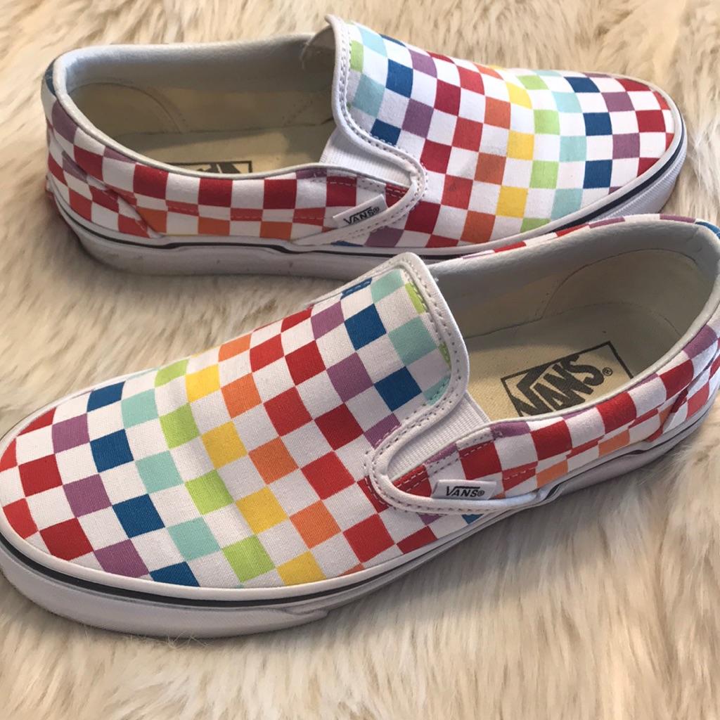 rainbow vans size 9