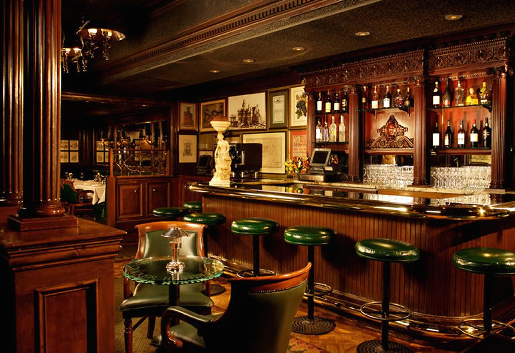 Luxury bar hospitality interior design of big restaurant