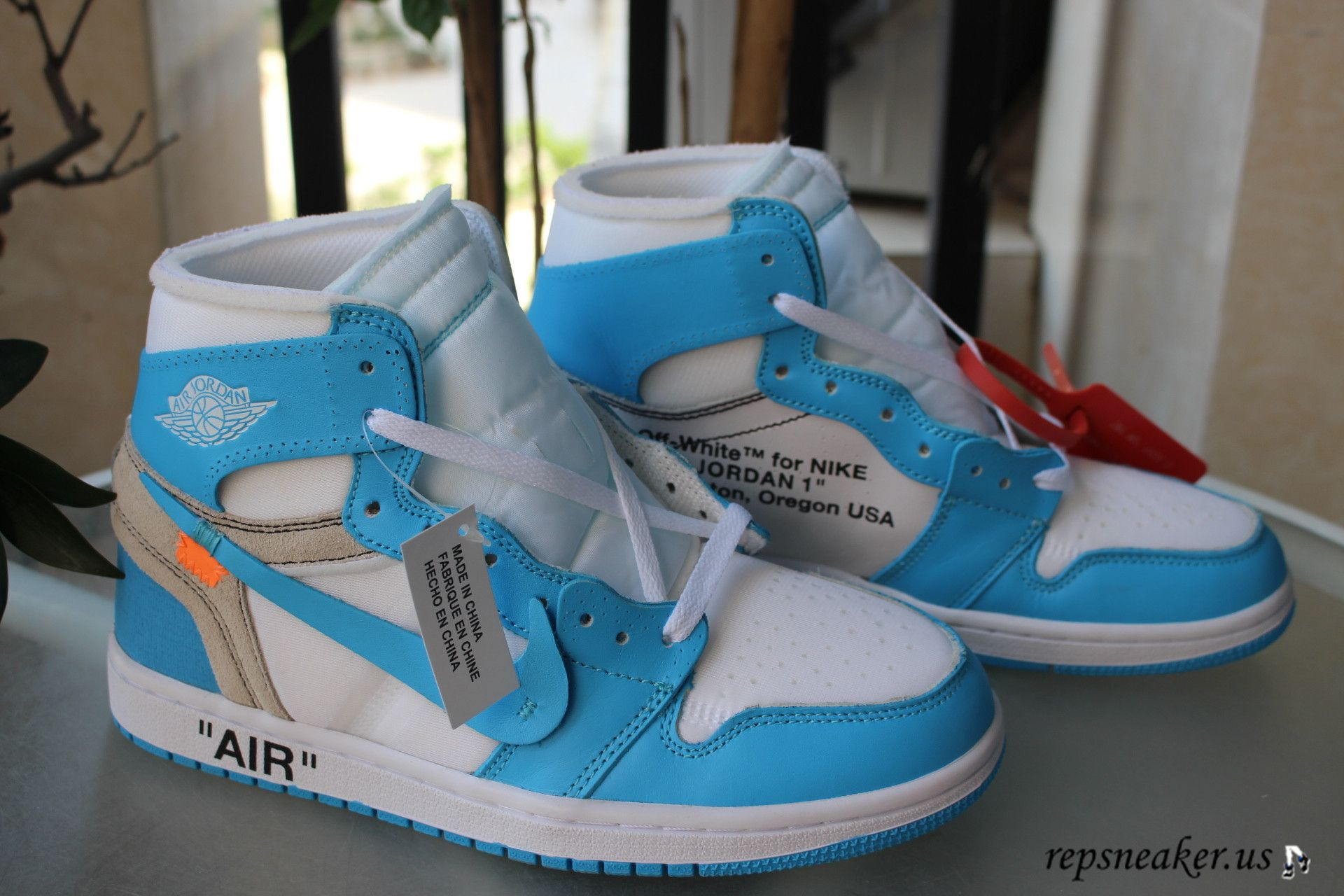 541f3e5c70c6 Authentic Off-White x Air Jordan 1 Retro OG High UNC White Blue Contact me   Email repsneakeryeezy gmail.com Whatsapp +8618087436133 Kik repsneaker ...