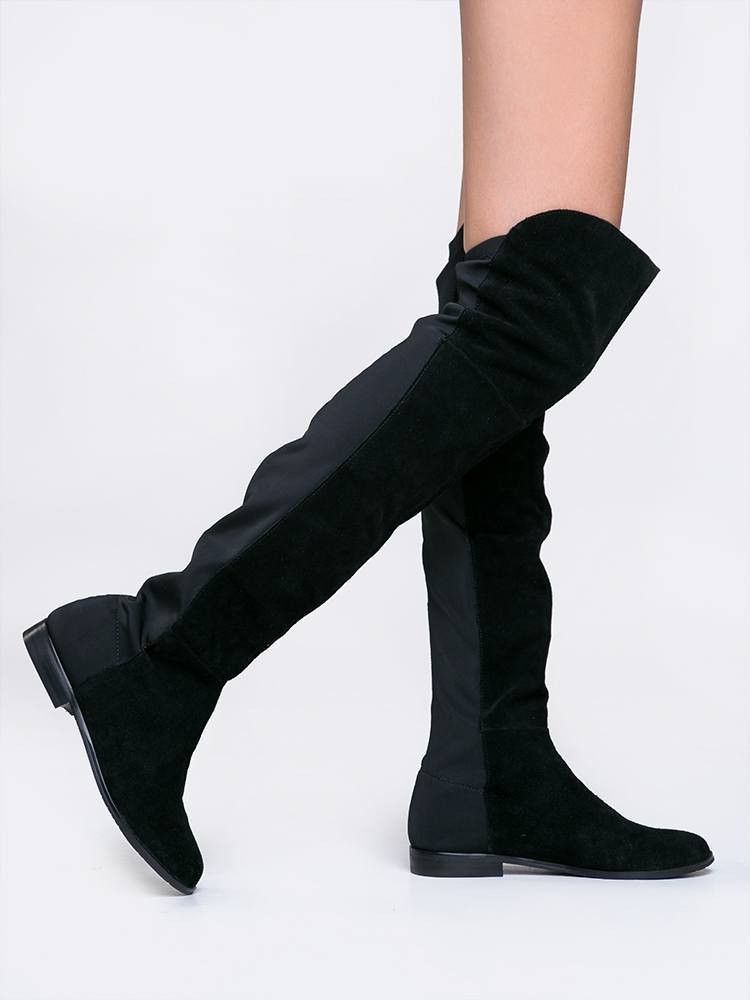 325772a7e820 Chinese Laundry Black Suede RILEY BOOT  zooshoo