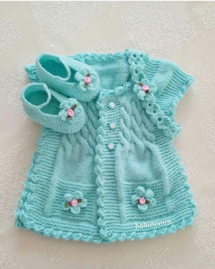 Hermoso chaleco de bebe color | <br/> T | Bebek | Pinterest ...