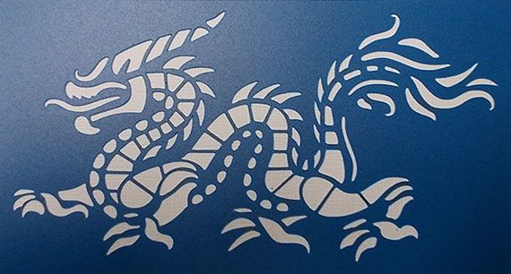 Dragon Stencil by kraftkutz on Etsy