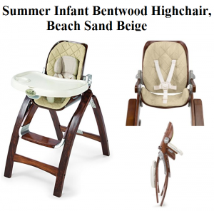 Summer Infant Bentwood Highchair In Beach Sand Beige From The