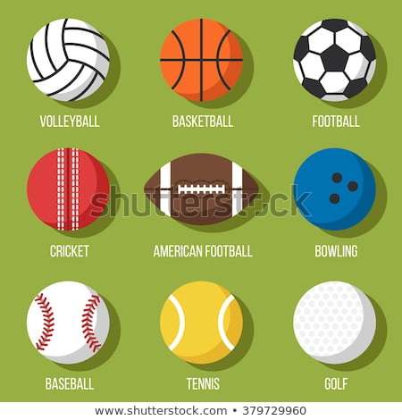 Colorful Vector Set Of Sport Balls Icons Volleyball Basketball Football Cricket American Football Bowling Baseball Tenni Sports Balls Volleyball Sports