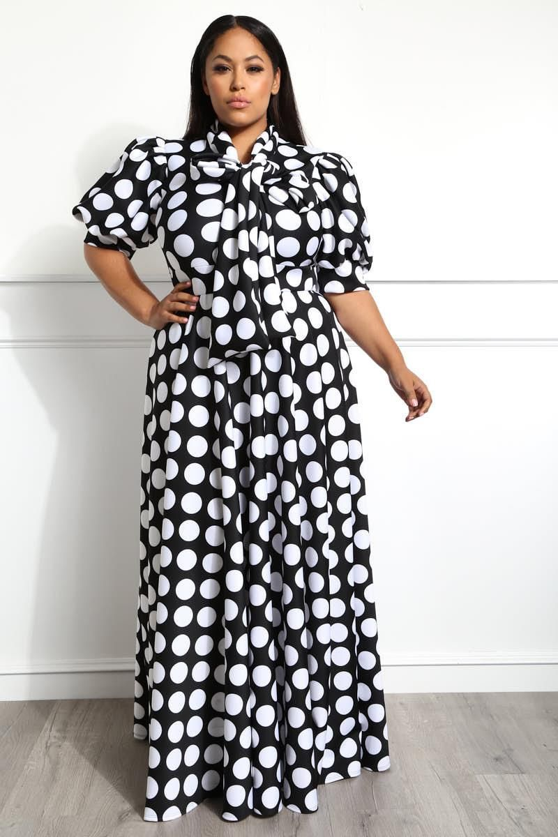 Stripped dress with Pockets for Women Casual Handmade Dress with Long Sleeve Design Polka Dot Dresses Unique Plus size Clothing