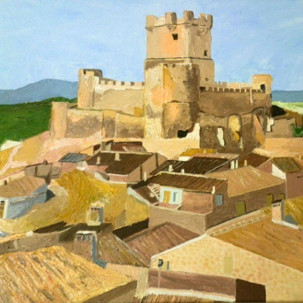 Detall quadre Castell de Villena. Oli sobre llenç 90 x 70 cm