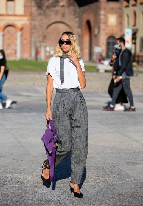 Dallo street style di Milano arriva il prospetto (accurato) dei pantaloni che indosseremo now&ever