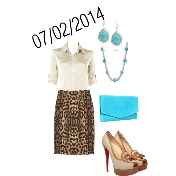 """White, Leopard,  Turquoise: Wednesday, July 2, 2014"" by josiegirl77 on Polyvore"