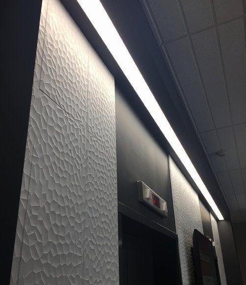 Elevator Lobby Wall Tile Linear Light Fixture Texture