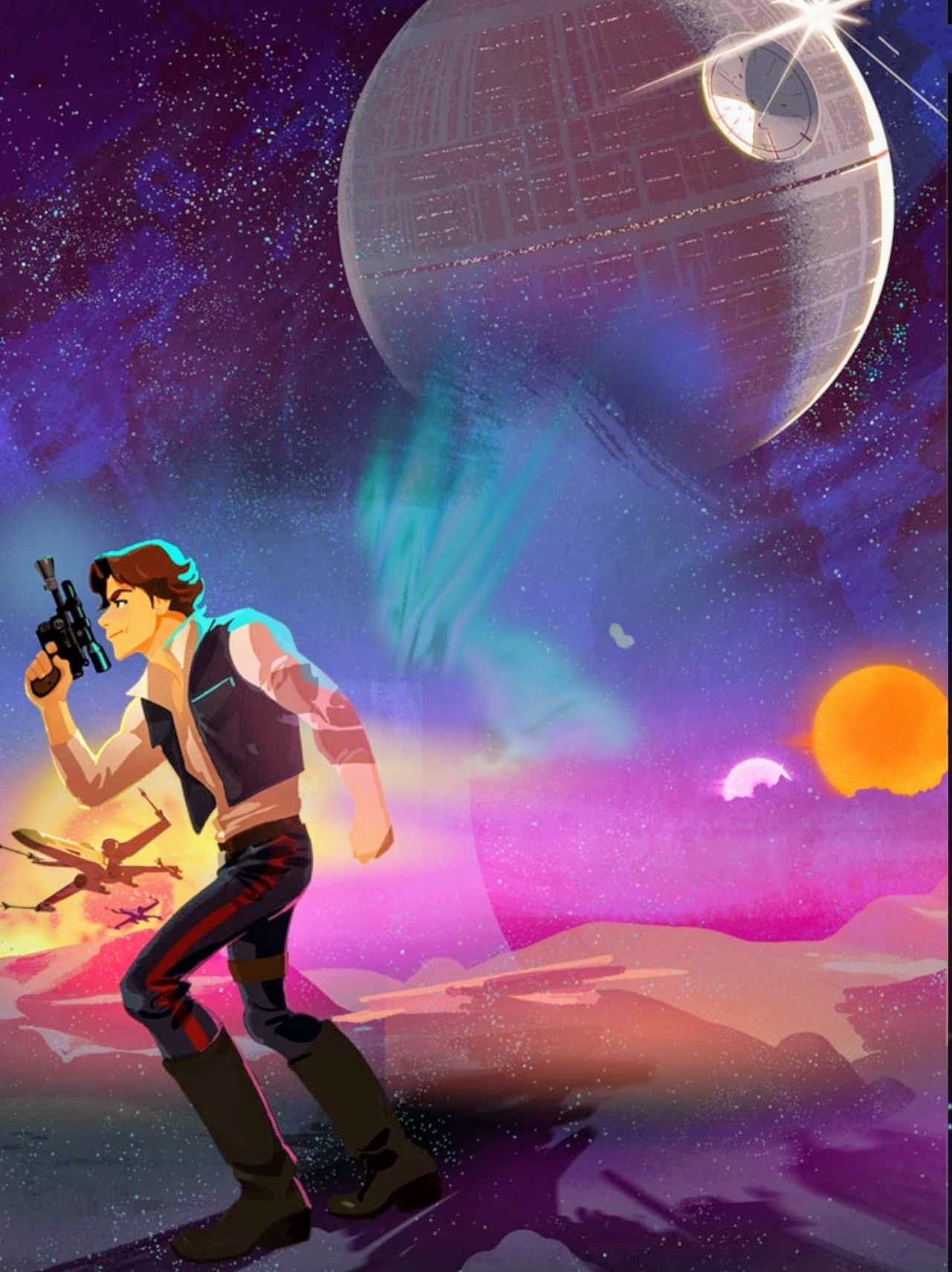 Cool Looking Artwork From The New Star Wars Animated Series Galaxy Of Adventures They Re Really Short Cl Star Wars Wallpaper Star Wars Awesome Star Wars Ships