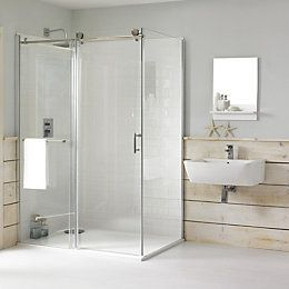 Cooke Lewis Eclipse Rectangular Lh Shower Enclosure Bathroom Design Wood Rectangular Shower Enclosures Shower Enclosure