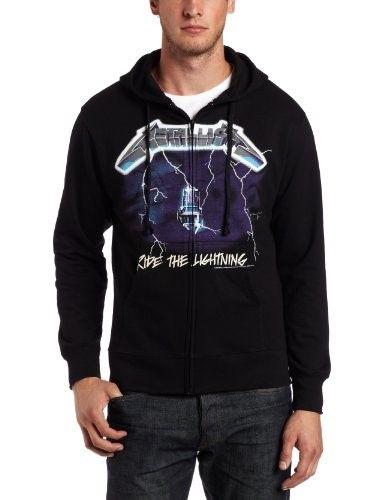 8fa974e1 Bravado Men's Metallica Ride The Lightning Zip-Up Hoodie, Black, Medium