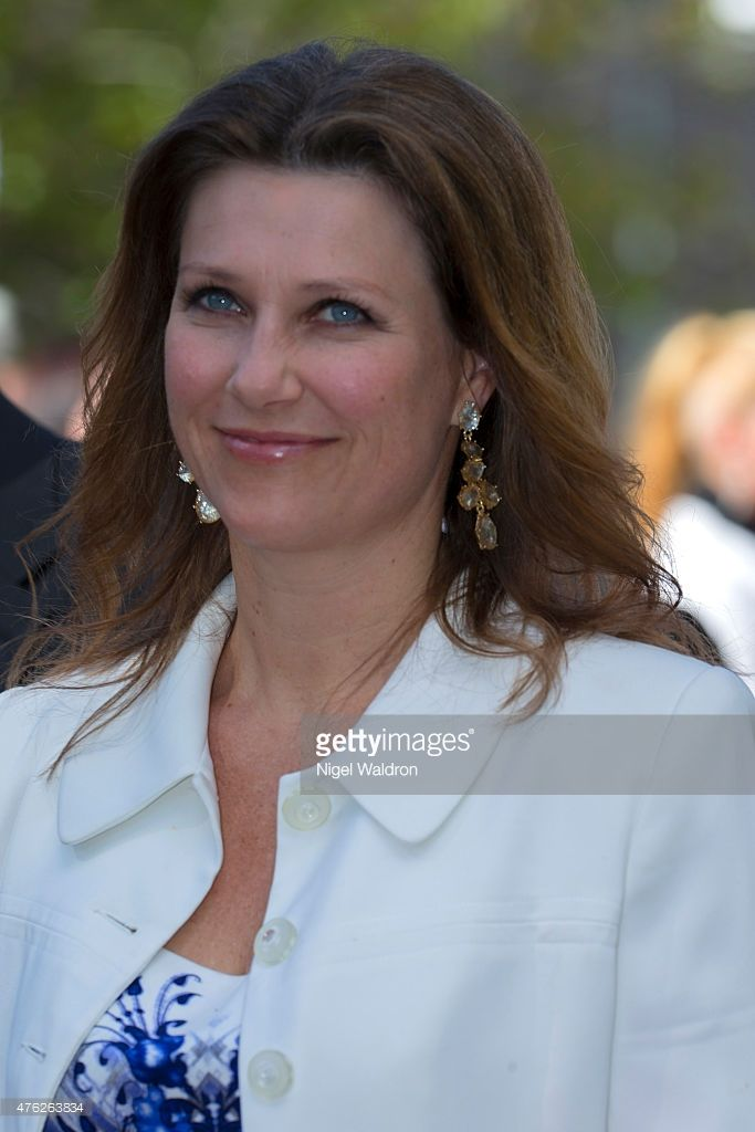 Princess Martha Louise of Norway attends the unveiling of a statue of King Olav V at the City Hall Square on June 7, 2015 in Oslo, Norway.